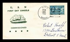 DR JIM STAMPS US COMMISSIONED USS MERRICK NAVAL COVER 1952
