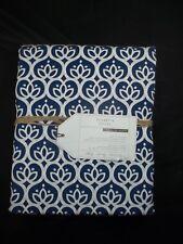 Pottery Barn Teen Florette Duvet Cover Twin Navy Blue #324