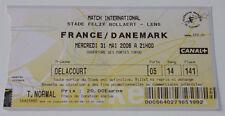 OLD TICKET * France - Denmark in Lens
