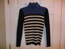 Ladies Lauren..Ralph Lauren Turtleneck Sweater...MC Striped...S...NWT