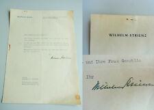 Opernsänger Wilhelm STRIENZ (1900-1987): Sign. Brief BERLIN 1941 an G. SCHOLTZ.