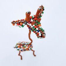 Beaded Wire Giraffe Decorative Desktop Decor Brown Red White Green Orange Blue