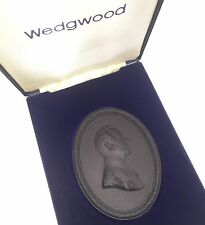 Wedgwood Black Basalt Plaque - Earl Mountbatten of Burma