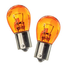 2x BAU15S PY21W 581 Natural Amber Glass Bulbs Front and Rear Indicator Lights