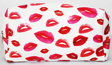Genuine LANCOME PARIS makeup bag pink lips print pvc