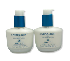 Borghese Hydrology ReAffirm Day Fluide Broad Spectrum SPF 15(1.7oz/50ml)LOT OF 2