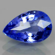 Magnificent Pear *Tanzanite* Loose Gemstone 3.5 Carats Large 10 x 8 mm Bright