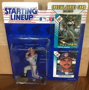1993 Carlos Baerga Cleveland Indians Rookie Starting Lineup in pkg w/ 2 BB Cards