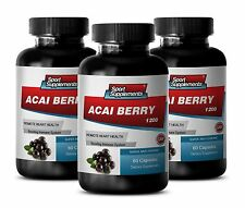 Pure Acai Berry Cleanse - Acai Berry Extract 1200mg - Suppress Appetite 3B
