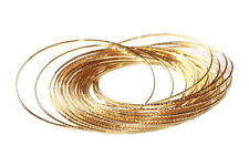 Cleopatra - Gorgeous & Rich 30 Multi-pack Golden/ Metal Hand Bangles(Zx233)