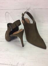 NEW M&S Shoe Boots High Heel Stiletto Sling Back Pointed Toe UK 8 EUR 42 Khaki