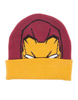 OFFICIAL MARVEL COMICS IRON MAN MASK RED & YELLOW BEANIE HAT (NEW)