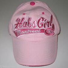 Montreal Canadiens Habs Girl Women's Baseball Hat Cap Pink NHL Hockey Canadians
