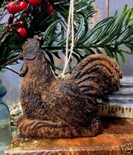 Chicken Blackened Beeswax Ornament Cinnamon Scented Folk Art Primitive Prim