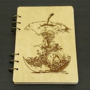 Notebook Wooden Journal Diary Book A5 Drawing Notepad Memo Student Travel Gift