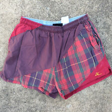 Rare Vintage 80s 90s HOBIE Surf Stripe Board Swim Trunks Shorts Grunge Sail Flag