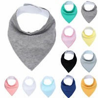 INFANT BABY KIDS COTTON FEEDING SALIVA TOWEL DRIBBLE TRIANGLE BANDANA BIB FUNNY