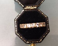 Women's 9ct Gold Half-Eternity Style Ring CZ Stones Size L 1/2 W2.06g Stamped