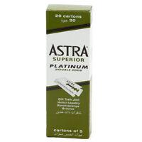 100 X Astra Superior Platinum Double Edge Safety Razor Blades FREE SHIPPING
