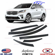 SMOKED DOOR WINDOW VENT VISOR DEFLECTOR fits for KIA SORENTO 2016-2019 ☆set 6pc☆