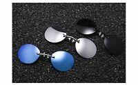 746|  lunettes de soleil sans monture ronde hommes classique pince nez
