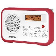 Sangean FM-Stereo/AM Digital Tuning Portable Receiver FM Radio Red PR-D18RD New