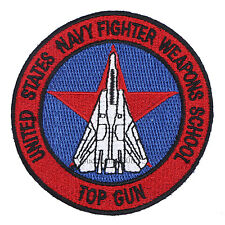 US NAVY WEAPONS SCHOOL TOP GUN SQUADRON EMBROIDERED BADGE PATCH- 36347