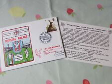 CRYSTAL Palace v CHARLTON 1977 Promotion to Div 2 Year FOOTBALL First Day Cover