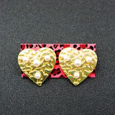 Betsey Johnson Fashion Jewelry Beauty Love Heart Pearl Stud Earrings