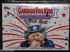 2016 GARBAGE PAIL KIDS AMERICAN AS APPLE PIE BLASTER BOX PLATE SKETCH GROSS BEAR