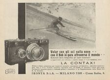Z1015 Zeiss Ikon CONTAX - Sciatore - Pubblicità d'epoca - 1934 Old advertising