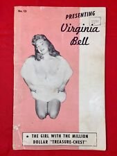 Vtg 50's Presenting Busty Virginia Bell Mag #13 36pages Of Girlie Pinup Photos