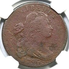 1796 S-109 R-3+ NGC Fine Details Rev of '94 Draped Bust Large Cent Coin 1c