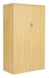 NEW BOXED - DOUBLE DOOR 160CM CUPBOARD WITH LOCK - OAK - RRP £230