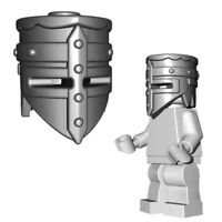 Lego Medieval Helmet Castle Knight Soldier crusader helm brickwarriors minifig