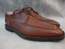 BALLY SWITZERLAND Brown Pebbled Leather Apron Derby Oxford Shoes 8.5 D US