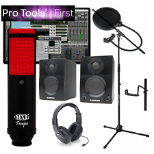 NEW Pro Tools First Home Recording Bundle MXL Tempo KR Samson BT3 & More