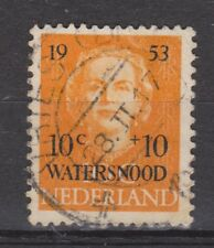 NVPH Netherlands Nederland 601 TOP CANCEL VRIES (Dr) Watersnood zegel 1953