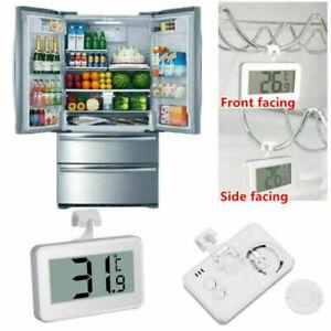 Digital LCD Fridge Freezer Thermometer Magnet Stand Hanging Hook Waterproof UK