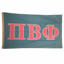 Pi Beta Phi Light Blue/Light Pink Letter Flag 3' x 5'