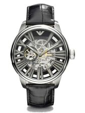 Emporio Armani AR4629 Meccanico Black Skeleton Dial 45mm Men's Watch