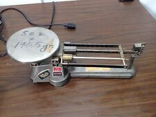 Vintage Ohaus Triple Beam Balance Scale Stainless Plate 2610 GRAM