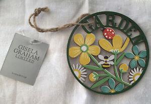 New Gisela Graham Fretwork Hanging Garden Plaque