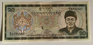 Bhutan Royal Government 20 Ngultrum 1981 Banknote