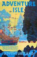 "Vintage Disney Adventure Isle [ 8.5"" x 11"" ] Poster   --Free Poster for 2or More"