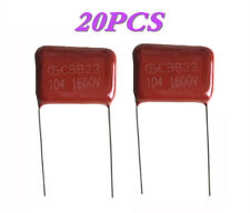 20 PCS High-voltage film capacitors CBB22 104J 1.6KV 0.1uF / 1600V P=20mm