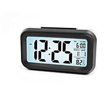 LCD Alarm Morning Clock Smart Backlit Digital Clock Light Sensor