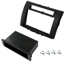 Adaptador autoradio marco reductor 1/2DIN negro para Toyota Corolla Verso