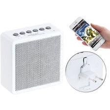 Badradio: UKW-Steckdosenradio mit Bluetooth, Freisprecher, USB-Ladeport, AUX-in