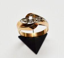 Top Diamantring Damen Brillant 18 Karat 750 Gold Gelbgold 4,81 g Weißgold Gr. 56